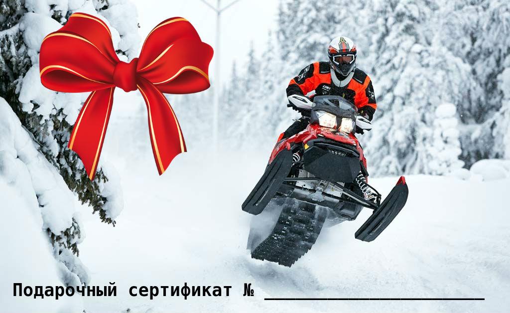 акция подарок сертификат 2019 подмосковье снегоход