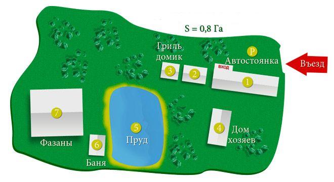 план участка домик в подмосковье